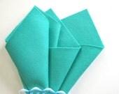 Sea Green Felt, 100% Wool, Choose Size, Mint, Lucite Green, Applique, Felt Crafts, Die Cutting, DIY Craft Supply, Toxin Free, Washable