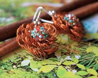 Stunning Earrings Hand Crocheted