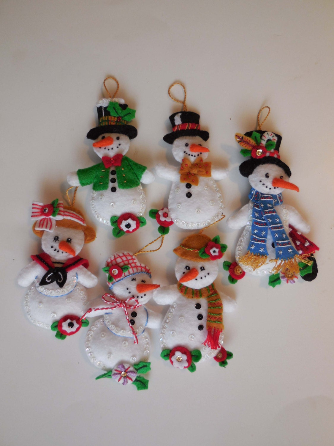 Finished christmas ornaments let it snowman sale for Christmas ornaments sale