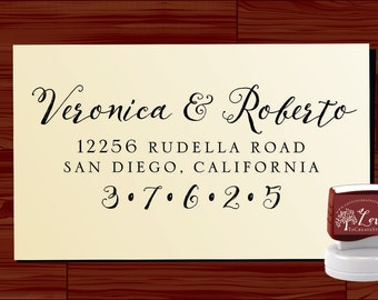 Custom ADDRESS STAMP  - Personalized Self Inking stamp - Style 1280M