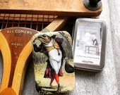Large pill box, gift tin, fly box, dapper toad, fly fishing