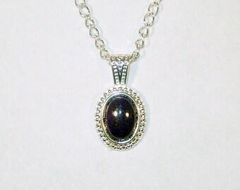 Hematite Cabochon in Silver