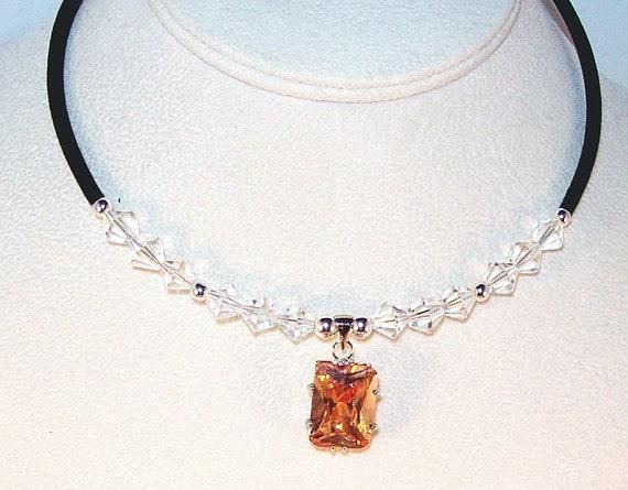 Swarovski Crystal and Cubic Zirconia Necklace