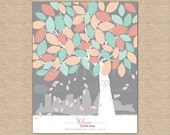 Baby Shower Guestbook Tree,Baby Shower Signature Tree,Christening Guestbook,Baptism Guestbook // Choose Art Print or Canvas // N-A09-1PS QQ2