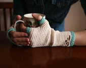 Crochet Pattern - Summer Sprig Handwarmers