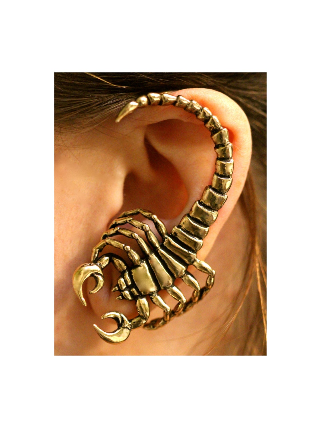 Scorpion Ear Wrap Bronze Scorpion Ear Cuff Scorpion Earring