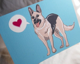 German Shepherd Heart Greeting Card