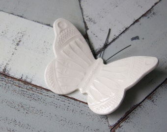 white porcelain wall butterfly