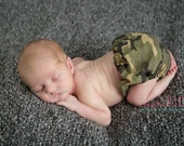 Daddy's Little Hunter Camo Baby Boy Diaper Cover