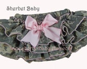 Oh So Sweet Daddy's Girl US Army ACU Digital Camouflage Sassy Pants Ruffled Diaper Cover Bloomers Lined Bloomer