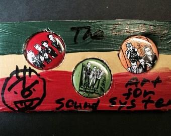 The Clash nobartco Rasta badges set