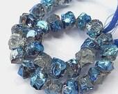 Rainbow Moonstone Gemstone Nugget. AB,  8x10mm. Semi Precious Gemstone.  Your Choice (55mn)