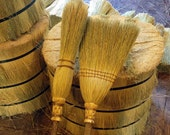 The Broom & Besom Set in your choice of Natural, Black, Rust or Mixed Broomcorn
