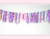 Fairies Rag Banner, Fairies Birthday Banner, Fairies Birthday Bunting, Birthday Fabric Banner, Fairies Birthday Decor, Fairy Birthday
