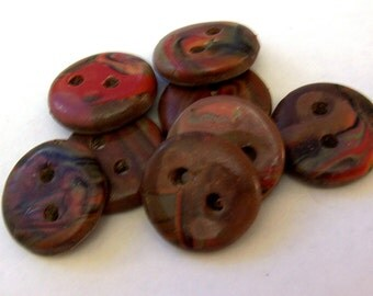 Red Jasper Buttons no. 216