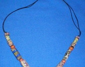 AfricanTrade Beads Necklace, Vintage Beads, 26 inch, Hippy, Bohemian, Belly Dance, Tribal, Renn Faire