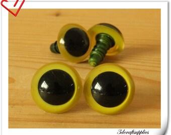 16 mm Green yellow Safety eye amigurumi eye doll eyes cat eye 12 pieces  EB74