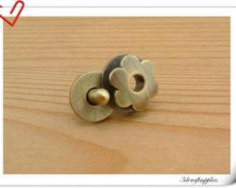 17mm hexapetalous flower Magnetic Snaps bag button purse Magnetic Snaps button ANTI BRASS F65