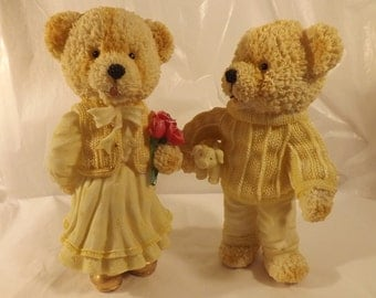 FREE SHIPPING Teddy bear couple figurines (Vault 9)