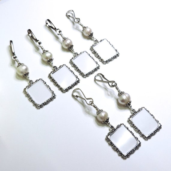 wedding bouquet photo charms 6x freshwater pearl memorial charms