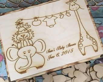 Large baby shower guest book alternative / guest book / baby shower/  keepsake box / baby girl , baby boy