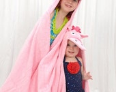 Personalized Pink Pony hooded towel