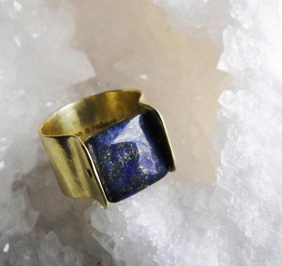 Lapis Lazuli Rivet Ring