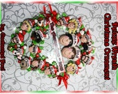 17 People Deluxe Wreath Personalized Christmas Ornament
