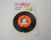 Vintage 1988 Goody Clincher Hair Comb Vinyl LP Record Hair Comb Hair Barrett Hair Accessory Hair Clip