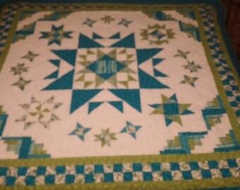 Stars of time sampler quilt