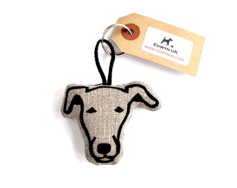 Whippet - Greyhound Keyring