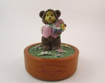 Vintage Robert Raikes Original Music Box Raikes Musical George Teddy Bear Plays I Just Called