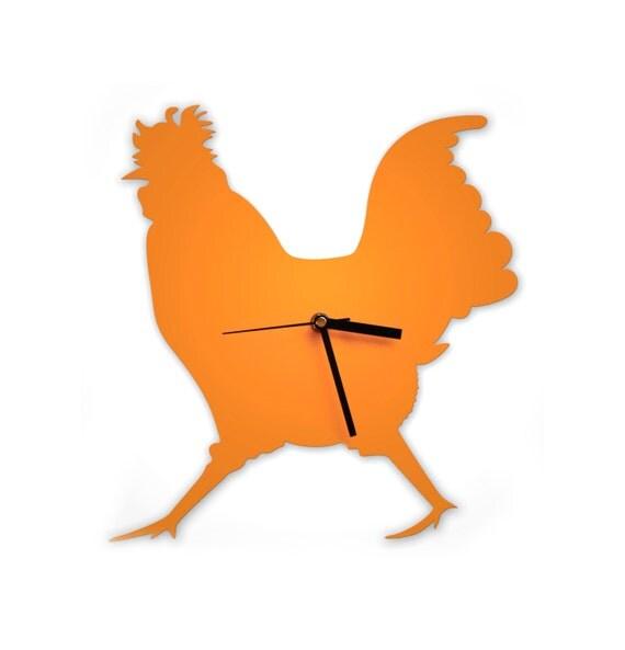 Cockerel Wall Clock. It's a Chicken Ticker