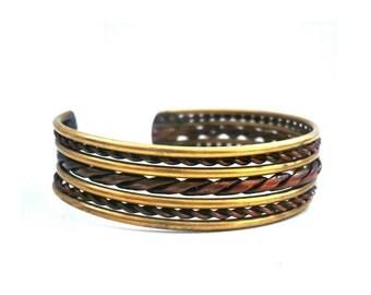 Marocain Vintage Brass Bracelet / Bangle