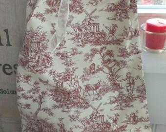 Drawstring Lingerie Bag Toile Print