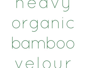 Heavy organic bamboo velour fabric - organic cotton and bamboo viscose fabric by the yard - OBV HOBV