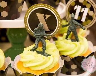 ARMY CAMO Printable Cupcake Toppers