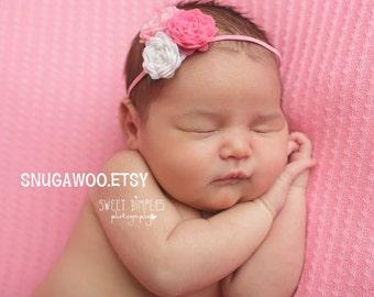 Newborn girl Felt Flower Headband, Baby Bow, Baby Headband, Baby Headband, Flower headband bow, baby hair accessory, best baby gift, shower