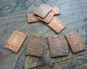 Vintage Solid Copper Square Stamping 20x15mm (4)