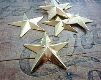 Vintage Star Stamping Large Gold Plated  (2)