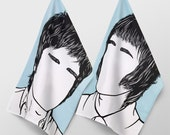 Icons - 2 Pack Noel and Liam Gallagher - 100% Cotton Tea Towel