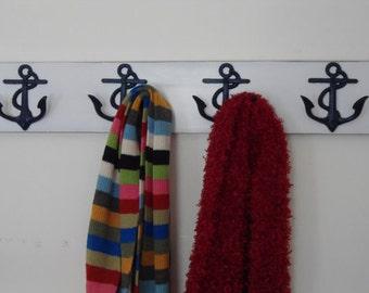 nautical beach decor anchor towel rack lake cabin renovation beach home decor coastal bathroom towel rack Outer Banks NC Beach House Dreams