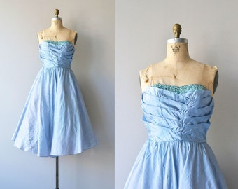 Pavilion en Air dress | vintage 50s dress • silk 1950s dress