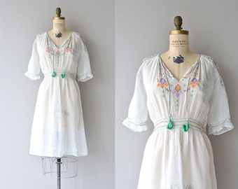 Balkan Folk dress | vintage 1920s embroidered dress | cotton 20s dress