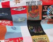 Tee Shirt Quilt , Memory Quilt , Graduation Quilt , Custom Tee Shirt Quilt , Deposit ONLY