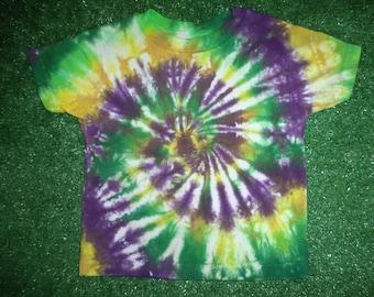 3T Mardi Gras Tie Dye Tshirt