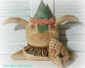 Bunny, Primitive Bunny, Easter, Bunny Shelf Sitter, Spring Bunny, Rabbit