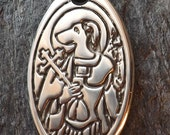 St. Christopher - Patron Saint of Dogs and Travelers - Pewter Pendant Jewelry - for People or Pets, Protection, Christian