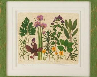 The Herb Garden - Artist Signed Fine Art Print