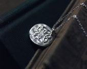 The Celtic Pendant Necklace. Hand Forged Fine Silver Celtic Knot Medallion Pendant and Sterling Silver Necklace.